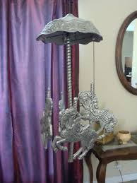pewter carousel wind chimes for the home