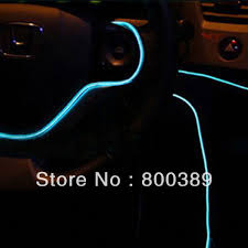 Christmas Lights For Cars 5m Flexible Strip Light Transparent El Wire Tube For Car