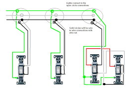 wiring lights in series i m wiring in 3 lights in series all with separate switches the