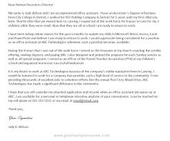 cover letter medical office assistant example