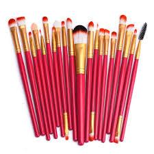eleazar boutique red 20 piece makeup brush set