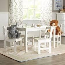 White Kids Table And Chair Set - white kids u0027 table u0026 chair sets you u0027ll love wayfair