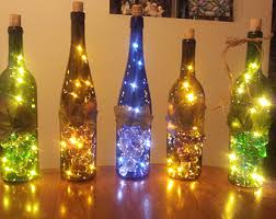 wine bottle l light accent recycled wine