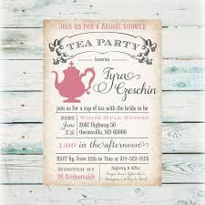 tea party bridal shower invitation diy digital file