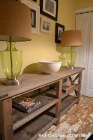 Rustic Hallway Table with Rustic Pine Console Table Foter