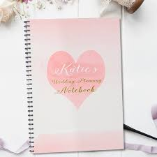 Wedding Planner Book Personalised Wedding Planning Notebook Gift By August U0026 Grace
