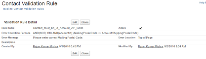 zip code validation pattern trailhead validation rule to check that a contact is in the zip code