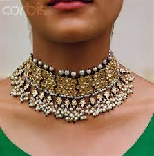 indian chokers necklace images Choker necklace design in gold 8 jpg