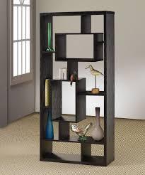Contemporary Oak Bookcase Contemporary Room Divider Shelf Bookcase In Black Oak Styleshouse