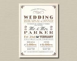 wedding rehearsal dinner invitations printable wedding rehearsal dinner invitation vintage poster