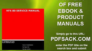 kfx 80 service manual video dailymotion