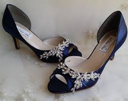 wedding shoes navy blue blue wedding shoes etsy