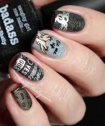 digit al dozen black fifty shades of nail stamping sassy shelly