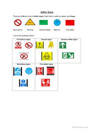 34 free esl safety worksheets