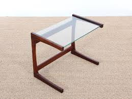 small teak coffee table mid century danish small side table in teak and glass galerie møbler