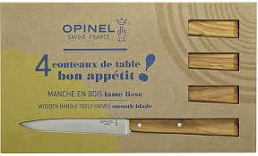 Opinel Kitchen Knives Review Opinel South Spirit Set Of 4 Olivewood Handled Steak Knives 001515