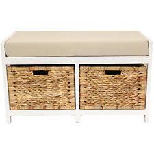 Seagrass Bench Wicker Storage Seat Ebay
