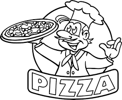 cartoon picture of pizza coloring page wecoloringpage