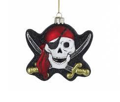 glass pirate skull ornament pirate gifts fairyglen