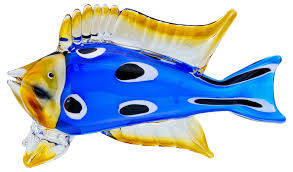 tropical blue glass fish ornament be fabulous