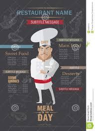 restaurant menu design template stock vector image 49608412