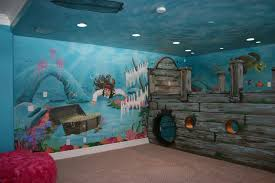 artistic murals sunken ship pirate underwater mural what child wouldn t love to play in this room for hours and hours