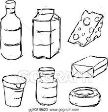 vector stock dairy product yogurt butter margarine milk