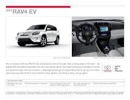 toyota rav4 electric range 2014 toyota rav4 ev brochure toyota in los angeles