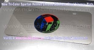 lexus f sport black steel license frame spartan helmet red blue u0026 green tri color 3d emblem chrome