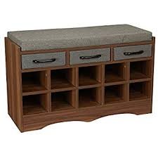 Bench With Shoe Storage Household Essentials Entryway Shoe Storage Bench With