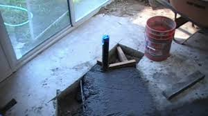 concrete patch in bath remodel for plumbing pipes youtube