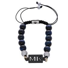 initials bracelet the blue tiger eye canterbury beaded my name