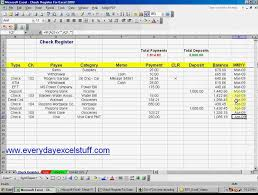 Check Register Template Excel Excel And Open Office Check Register