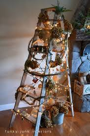 16 ways to decorate a home with ladders christmas tree upcycle