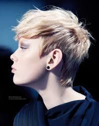 haircuts forward hair trendy short haircut with the hair cut around the ears and forward