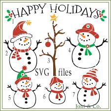 christmas svg file snowman svg glass block svg cut file
