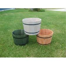 maine bucket tm2414 24 inch whiskey barrel planter natural