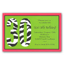 zebra 30th birthday invitations clearance paperstyle