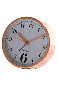 salt u0026pepper zone 11cm x 4cm round rose gold alarm clock myer