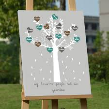 wedding signing frame customized wedding decoration canvas guest book chic family tree