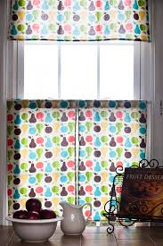Cafe Curtain Pattern Diy Retro Kitchen Curtains Inspiration