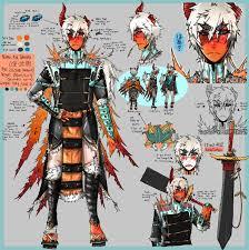 volcarona gijinka female by ronmasenko weapon a pokemon bug