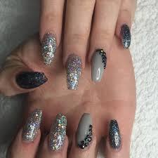 easy nail art glitter acrylic nails new glitter nails acrylic ideas trends stickers