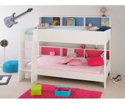 White Bunk Bed With Trundle Bunk Twin Over Twin Bed With Trundle 2 Mattresses Included