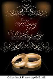 happy wedding day happy wedding day card vector illustration vector clip