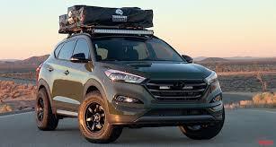 hyundai tucson aftermarket accessories exclusive drive 2016 hyundai tucson adventuremobile sema