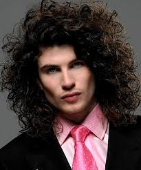 hairstyles for curly haired square jawed men for long hair