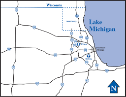 Map Downtown Chicago Lake County Illinois Convention And Visitors Bureau Maps And