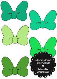 minnie mouse bow clipart shades green printabletreats