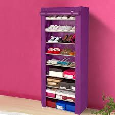 small portable shoe rack storage and shelves with 9 tiers plus